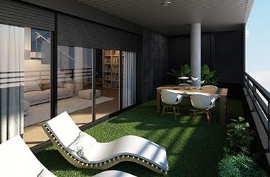 Vista Terraza (opción césped)